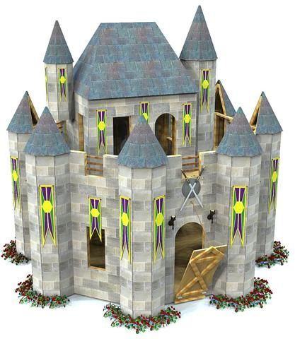 Looking for a castle playhouse plan with a dash of fantasy and magic? Look no further than this alluring 2 story fortress design. Fun to build and lively for the kids.