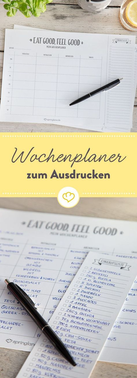 Eat Good - Feel Good - Meal Planner kostenlos zum Download