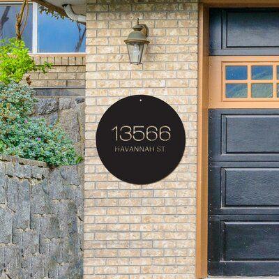 48 Hour Monogram 2 Line Wall Address Plaque Wayfair In 2020 Metal House Numbers Address Plaque Address Sign
