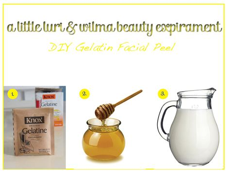 A Beauty Experiment - DIY Gelatin Facial Peel — luri & wilma. I jusy tried this and its seriously awesome!  Got about 90% of my blackheads! Hurt like a bitch tho.
