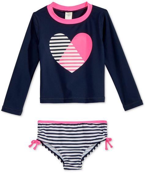 Osh Kosh Girls Infant Heart Tankini Set