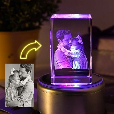 Custom Led Art Portrait Lamp In 2020 Crystal Lamp Photo Lamp Engraved Crystal