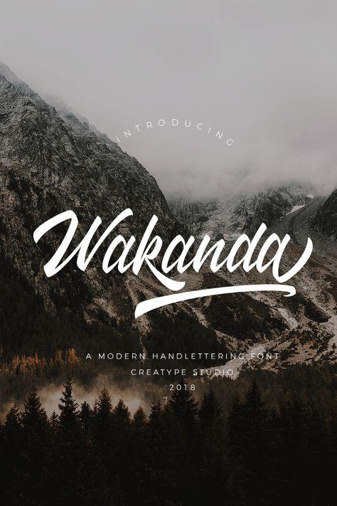 Wakanda Script Font