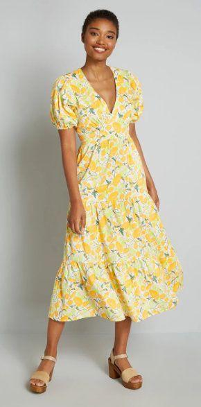 Beaming Like the Sun Midi Dress