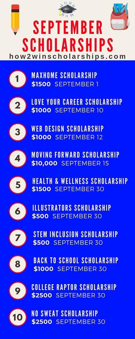September Scholarships - Fall Deadline Awards