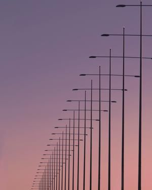 This picture represents repetition in the Principles of Design. Although the design is simple, the picture appears complex because of the exact similarity and precise positions of the lights. The lights seem as if they go on forever and ever.