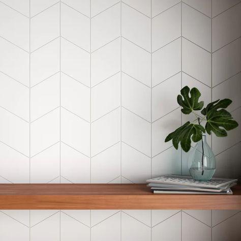 Ronbo x Porcelain Field Tile Kitchen Tiles Backsplash, Modern Kitchen Backsplash, White Kitchen Backsplash, Kitchen Wall, Kitchen Tile, Kitchen Flooring, Backsplash Designs, Kitchen Design, White Tile Backsplash