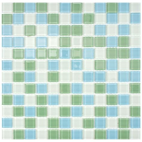 Spectrum Square Fresh 11 3 4 Inch X 11 3 4 Inch X 4 Mm Glass Mosaic Tile 19 59 Sq Ft Case Glass Mosaic Tiles Mosaic Glass Mosaic Wall Tiles