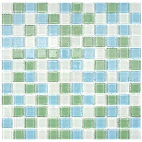 Spectrum Square Fresh 11 3 4 Inch X 11 3 4 Inch X 4 Mm Glass Mosaic Tile 19 59 Sq Ft Case Glass Mosaic Tiles Mosaic Glass Mosaic Wall Tiles