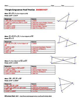 Triangle Congruence Proof Geometry Worksheet End Of Unit Geometry Proofs Geometry Worksheets Worksheets