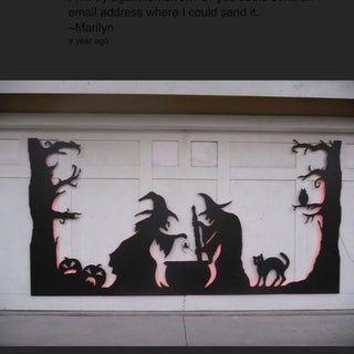 Halloween Garage Door Silhouette Halloween Ideas Boo