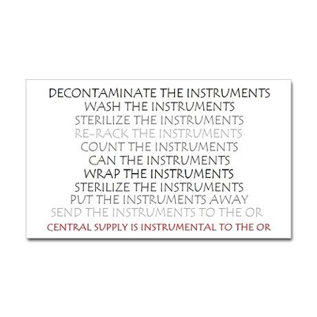 Instruments Rectangle Decal on CafePress.com