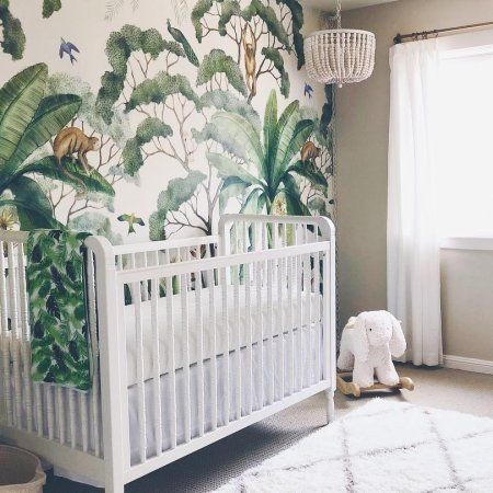 Baby Nursery Jungle Wallpaper