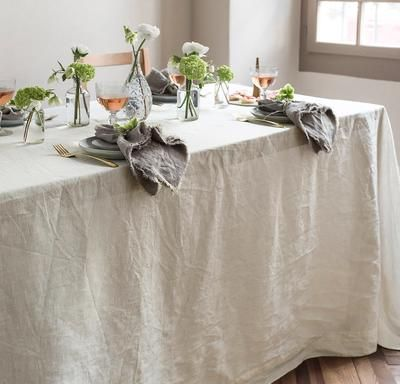 Smooth Linen Tablecloth In 2020 Linen Tablecloth Flooring Table