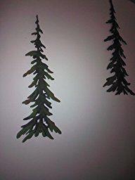 Evergreen Pine Tree Metal Wall Decor Set Decor Evergreen Metal