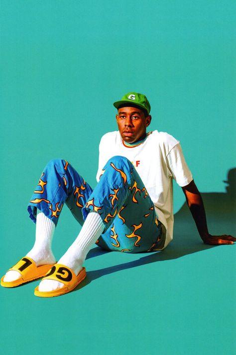 Tyler The Creator Odd Future Rap Music Poster Pop Fabric Art 231 Odd Future, Tyler The Creator Wallpaper, Estilo Swag, Mode Hip Hop, Look Festival, Hip Hop Outfits, Flower Boys, Golf Fashion, Mode Style