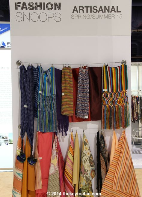 Fabric samples for the spring summer 2015 Artisanal fashion trend as seen on The Key To Chic