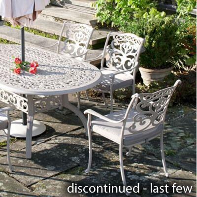 Cast Aluminium Garden Furniture, Large Cast Aluminium Garden Bench