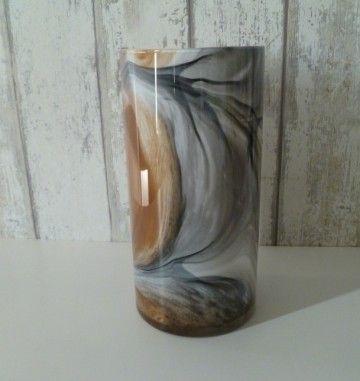 Fidrio 08 Art Lines Cilinder 2 Glas Vazen Metaal