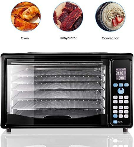 Amazing Offer On Golux Multi Use Large Convection Countertop Toaster Ovens 27qt Dehydrator Machine Grill Bake Turkey Pizza Bread Cookies Reheat Dehydrate 5 Dr In 2020 Toaster Oven Pizza Bake Turkey Pizza