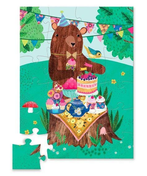Crocodile Creek Woodland Birthday Bear 24Piece Jigsaw Puzzle