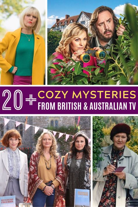 Cozy Mysteries: British TV Shows for mystery fans who like their British mysteries mild. Agatha Raisin, Miss Marple, Frankie Drake … Mystery Show, British Mystery Series, Agatha Raisin, Detective, Tv Series To Watch, Entertainment Logo, Cozy Mysteries, Murder Mysteries, Mystery Novels