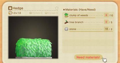 Acnh How To Get Hedge Diy Recipe Animal Crossing Gamewith Animal Crossing Diy Food Recipes Hedges