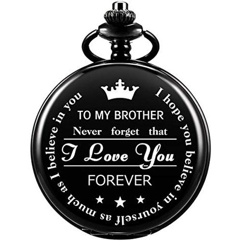 SIBOSUN Pocket Watch for Men Who Have Everything Birthday Gifts for Men Personalized Gifts for Husband Boyfriend (King) Engraved Black | Jodyshop
