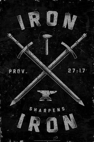 Iron Sharpens Iron Tattoo : sharpens, tattoo, Sharpens, (Proverbs, 27:17), Biblical, Inspirational, Poster, Slingshot, Iron,, Christian, Posters,, Posters