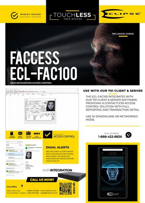 ECL-FAC100 Facial Recognition Terminal – Eclipse Security
