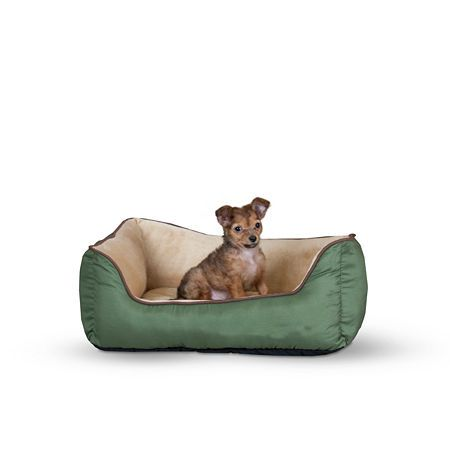 K H Manufacturing Self Warming Lounge Sleeper Bolster Dog Bed Pet Beds Cat Heated Dog Bed