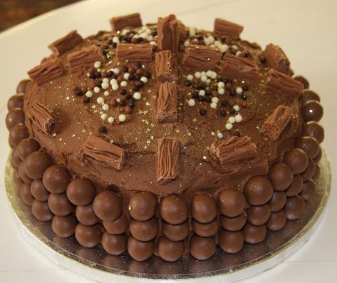 Outstanding Chocolate Birthday Cakes Top Tips For Decorating With Maltesers Funny Birthday Cards Online Inifodamsfinfo