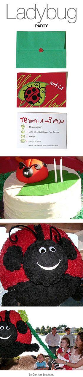 Ladybug party by Carmen Escobedo www.conceptplusd.com