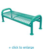 u leg perforated bench no back the park catalog comes in a ton