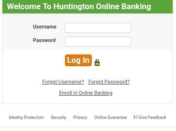 Huntington Online Banking Login