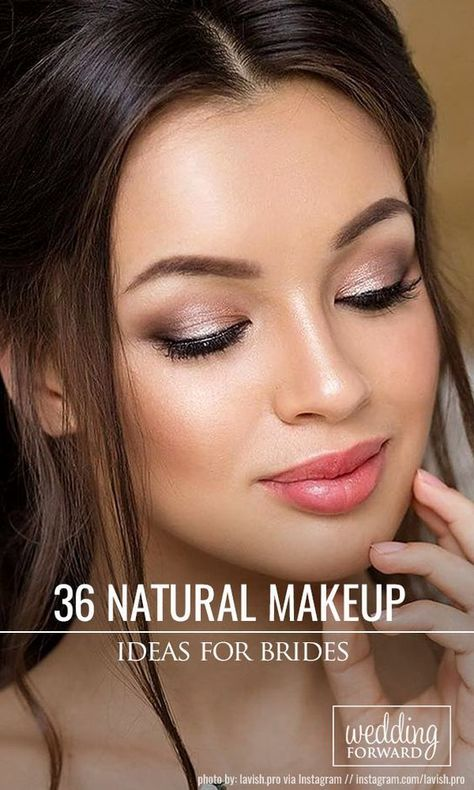 9cbc5854f88 36 Ideas For Natural Bridal Makeup Natural bridal makeup is a good choice  to make your