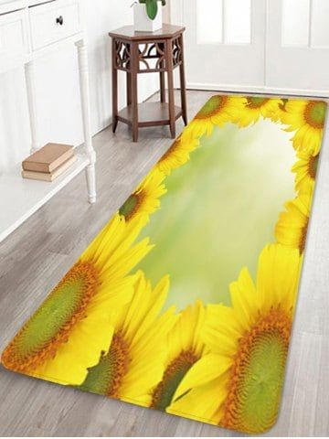 Sunflowers Pattern Water Absorption Area Rug Area Rugs Sunflower Pattern Rugs