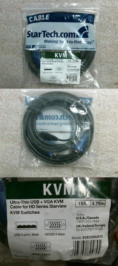 Kvm Cables 182095 Nib Startech Sveconus15 15ft Ultra Thin Usb Vga Kvm Cable 60 Day Warranty Buy It Now Only 15 On Ebay Kvm Cables Usb Startech Com