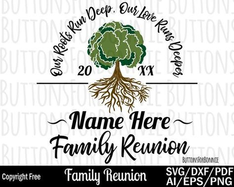 Family Reunion svg our roots run deep tree svg roots svg | Etsy