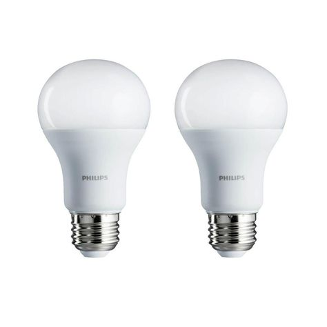 Philips 100 Watt Equivalent A19 Non Dimmable Energy Saving Led Light Bulb Daylight 5000k 2 Pack Led Light Bulb Light Bulb