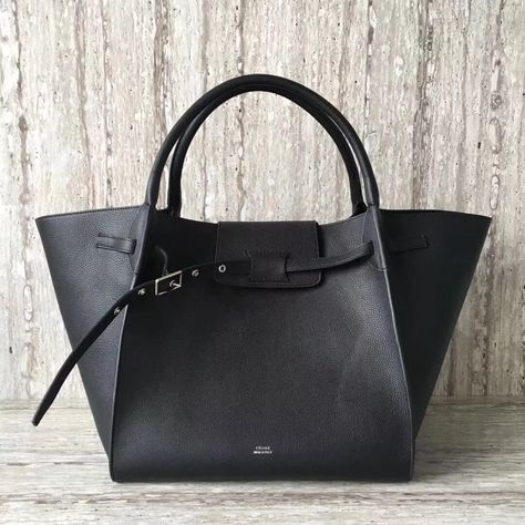 Celine Medium Big Bag in Grained Calfskin Black 2018