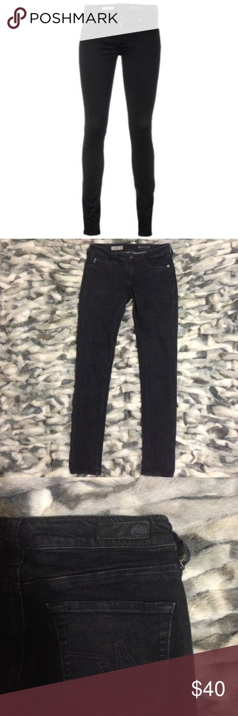 """AG Jeans Jegging Super Skinny Fit Black AG Jeans Jegging Super Skinny Fit Black...sz 26R ..Inseam 29""""..Excellent condition AG Adriano Goldschmied Jeans"""