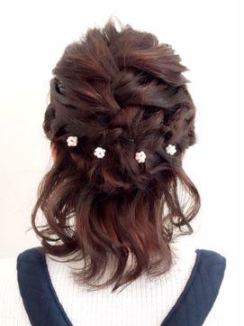 ショートボブ 結婚式髪型 ヘアアレンジ 人気パーティヘアをご紹介