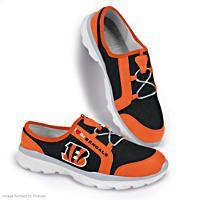 I Love The Cincinnati Bengals Womens Canvas Shoes