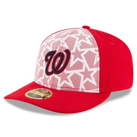 4f2b4e4f236 Washington Nationals New Era Stars   Stripes Low Profile 59FIFTY Fitted Hat  - White Red