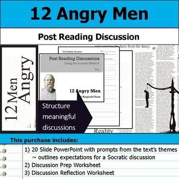 12 Angry Men Socratic Method Post Reading Discussions Socratic Method Reading Discussion Reading