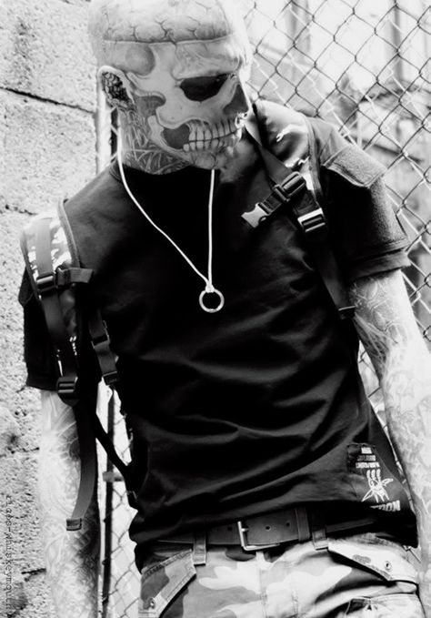 Rick Genest / Male Models, Tattoos...SERIOUSLY?! He get's even hotter? My favorite picture of him yet!
