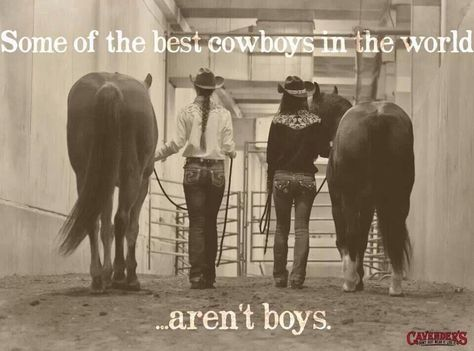 Some of the best cowboys in the world. aren't boys. - via Siqueira Spencer Cowgirl Museum and Hall of Fame - Cowgirl Quote, Cowgirl And Horse, Horse Girl, Cowgirl Style, Cute Horses, Horse Love, Beautiful Horses, Funny Horses, Pretty Horses
