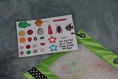 DIY pencil pouch I Spy bags for alphabet items