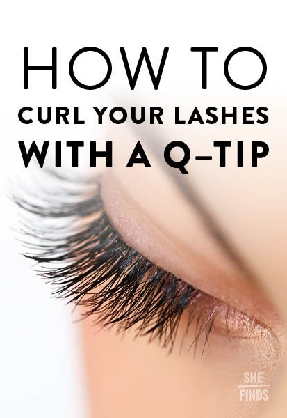 100 best faux lashes images on pinterest beauty makeup hair how to curl your eyelashes with a q tip ccuart Image collections